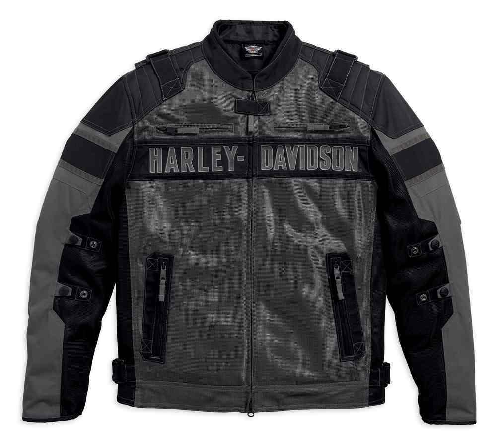 blouson harley davidson homme codec textile coton noir. Black Bedroom Furniture Sets. Home Design Ideas