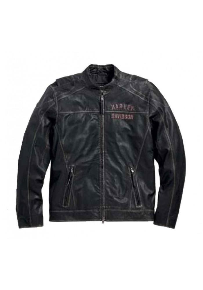 Blouson Harley Davidson Homme / en Cuir Long Way Noir 98089-15VM