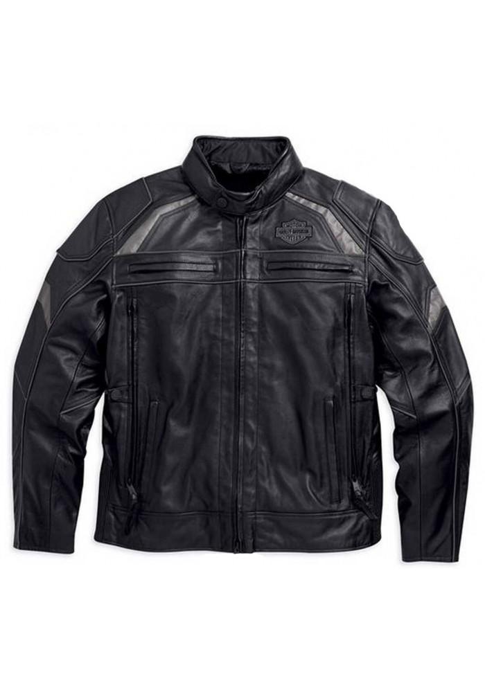 Blouson Harley Davidson Homme / Medallion Reflective en Cuir Noir 98077-15VM