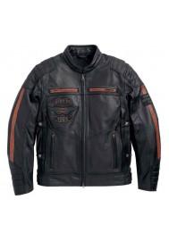Blouson Harley Davidson Homme / Triple Vent System Exmoor en Cuir Noir 97106-16VM