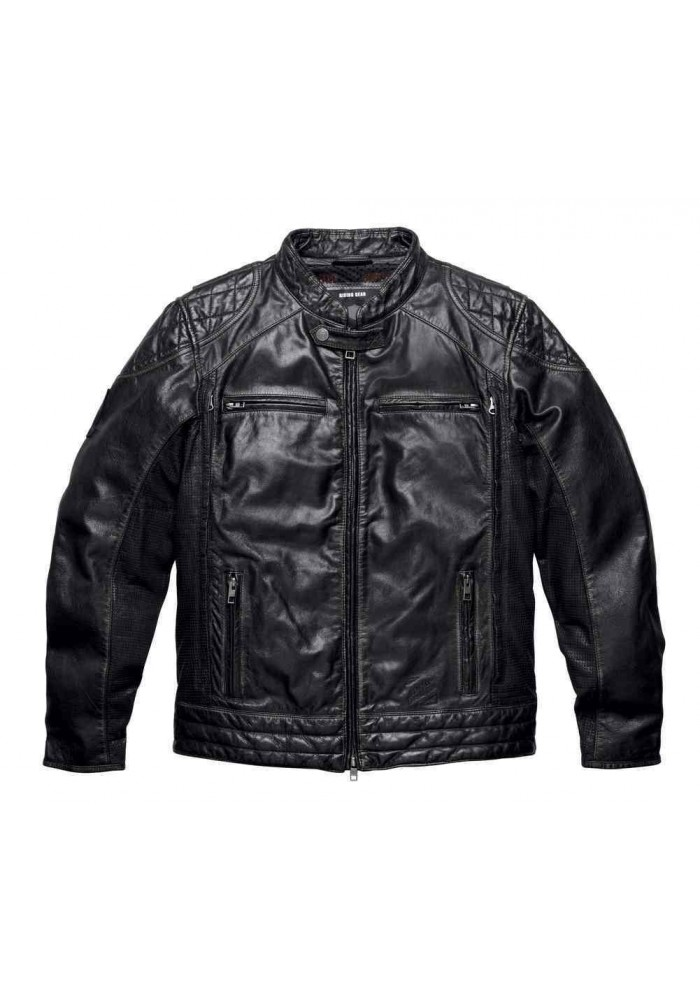 Harley-Davidson® Mens Black Label Core Perforated Panel en Cuir 98113-16VM