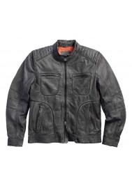 Blouson Harley Davidson Homme /Noir Label Washed en Cuir Lambskin 97078-15VM