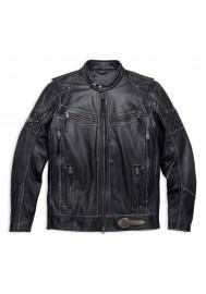Blouson Harley Davidson Homme / Tifton Distressed en Cuir Noir 97138-17VM