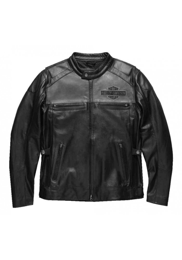 Blouson Harley Davidson Homme / Votary Colorblocked en Cuir Noir 98119-17VM