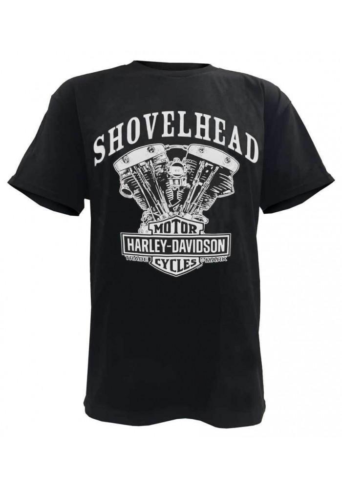 Harley Davidson Homme Tee Shirt, Shovelhead Engine Manches Courtes, Noir 30294026