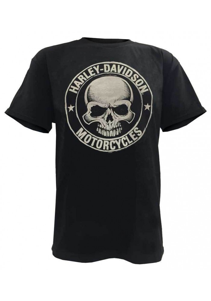 Harley Davidson Homme H-D Skull Badge Tee Shirt Manches Courtes Noir 30298293