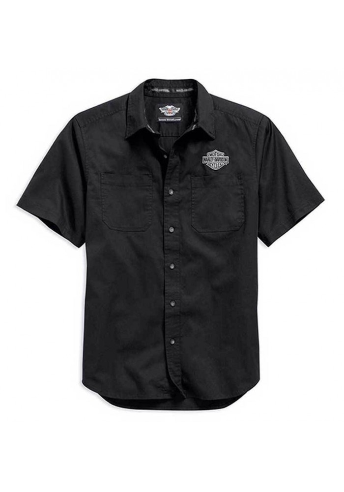 Harley Davidson Homme Logo Chemise Manches Courtes Noir. 99013-15VM