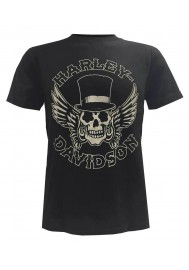 Harley Davidson Homme Way of Life Skull Tee Shirt Manches Courtes Noir 30298308