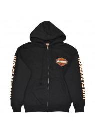 Harley Davidson Homme Sweatshirt à Capuche, Bar & Shield Zip Noir 30299142