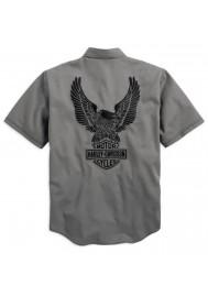 Harley Davidson Homme Genuine Classics Eagle Garage Chemise Manches courtes 99003-14VM