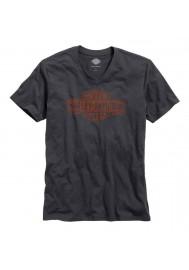 Harley Davidson Homme Black Label Core Trademark Logo Tee Shirt Col en V 99042-16VM