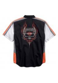Harley Davidson Homme Performance Vented Pinstripe Flames Chemise 99046-16VM