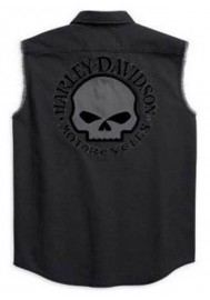 Harley Davidson Homme Willie G. Skull Blowout Button Muscle Chemise 99139-10VM