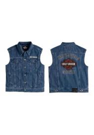 Harley Davidson Homme Bar & Shield Logo Denim Veste sans manche 99041-08VM