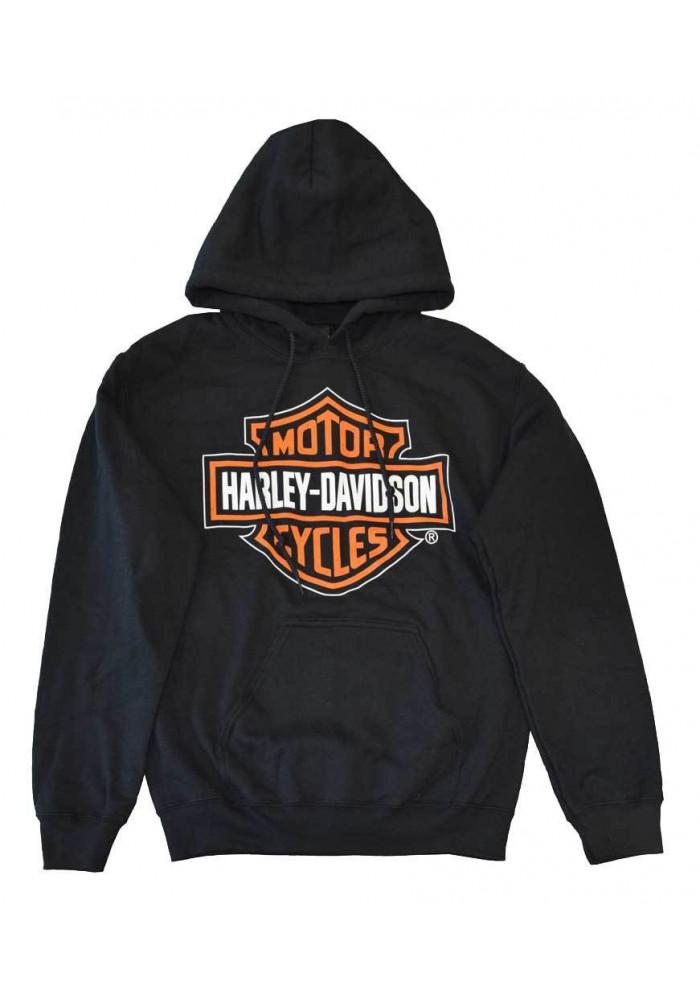 Harley Davidson Homme Sweatshirt à Capuche, Pullover Bar & Shield, Noir 30298035