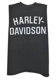 Harley Davidson Homme Heritage H-D Script Muscle Chemise Sable Tank Top, Noir 30296631