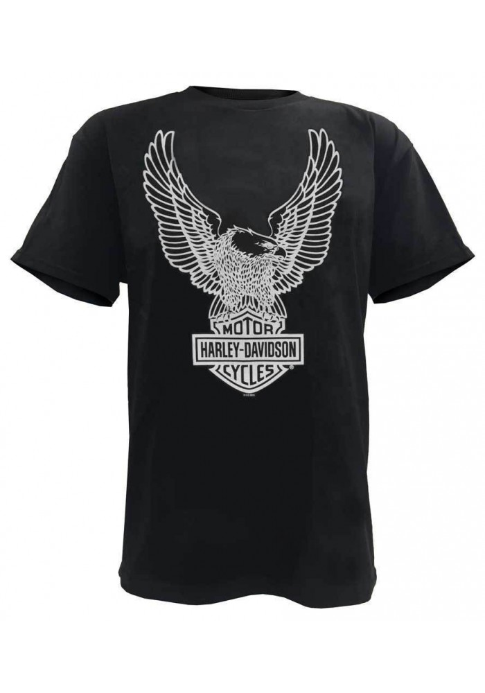 Harley Davidson Homme Tee Shirt Eagle Graphic Manches Courtes Noir Tee 30296656