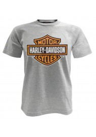Harley Davidson Homme Bar & Shield Tee Shirt Manches Courtes Gris 30296622
