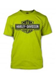 Harley Davidson Homme Elongated Bar & Shield Safety Tee Shirt Vert 30291737