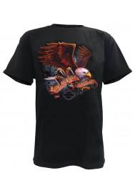Harley Davidson Homme Eagle Tee Shirt Manches Courtes, Noir