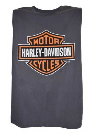 Harley Davidson Homme Bar & Shield Muscle Chemise Sable Tank Top, Charcoal 30296624