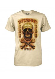 Harley Davidson Homme Tee Shirt Black Label, Wrench Skull Rusty , Sand 30293306