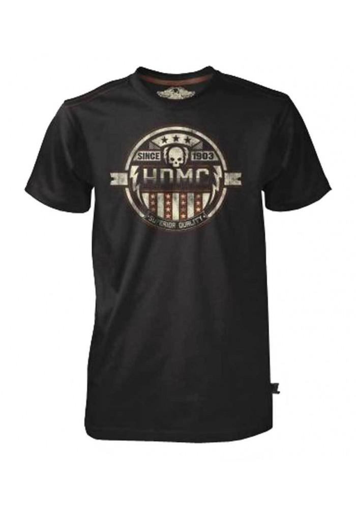 Harley Davidson Homme Tee Shirt Black Label, Superior Quality , Noir 30293439