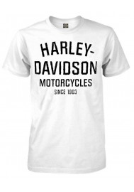 Harley Davidson Homme Tee Shirt, Heritage Distressed Manches Courtes, Blanc 30294029