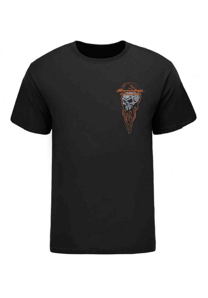 Harley Davidson Homme Eagle Ghost Engine Tee Shirt, Noir HARLMT0237