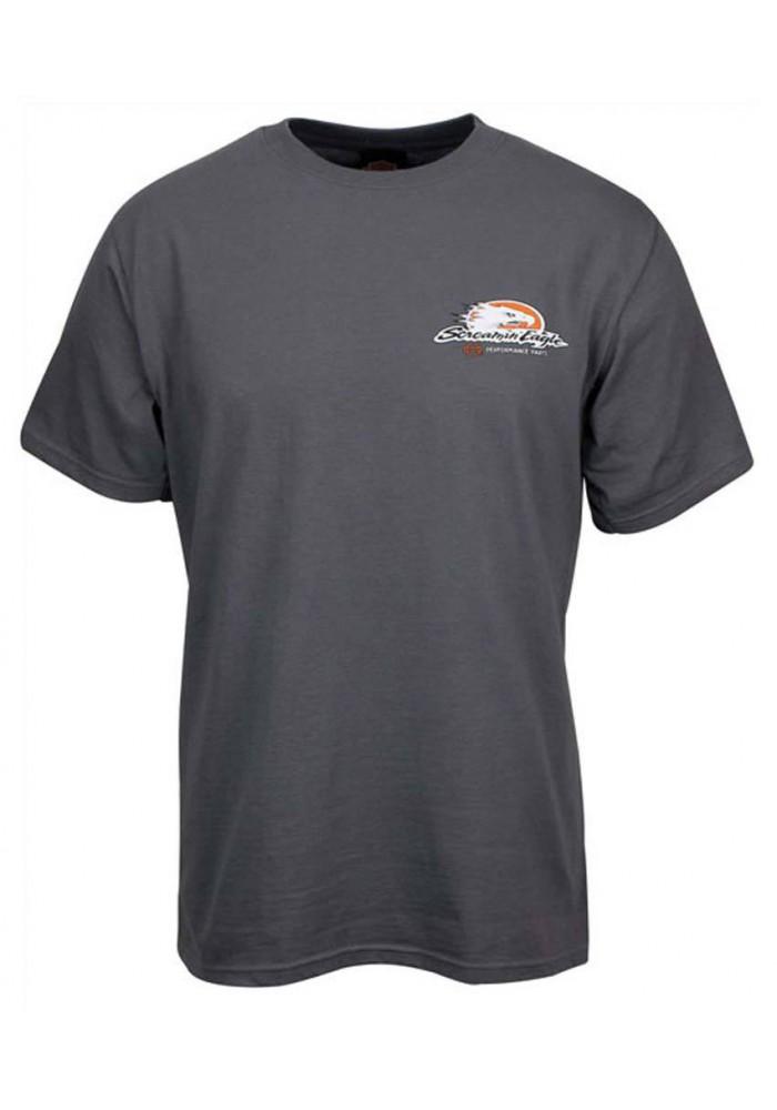 Harley Davidson Homme Eagle Skull Tee Shirt Couleur Charbon HARLMT0163
