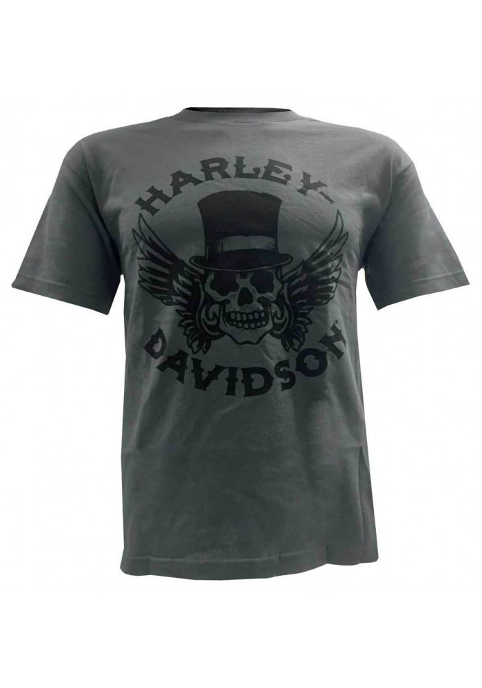 Harley Davidson Homme Way of Life Skull Tee Shirt Manches courtes Charcoal 30298310
