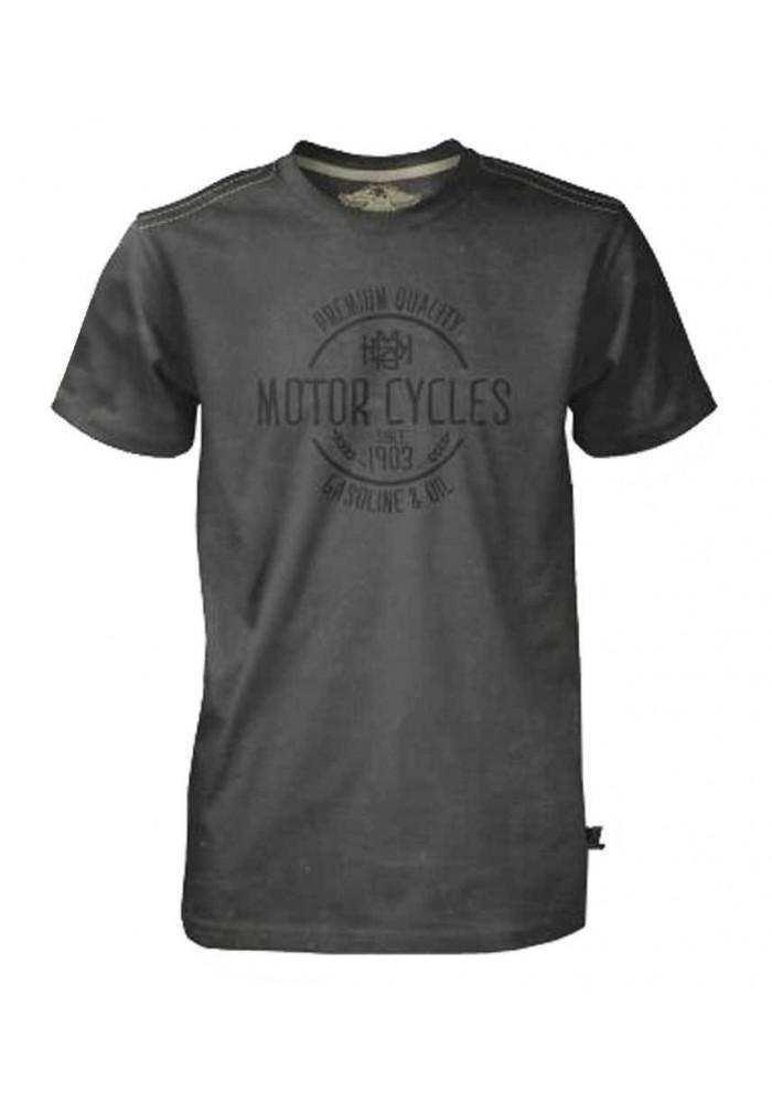 Harley Davidson Homme Tee Shirt Black Label, Gas & Oil MC Noir 30293552