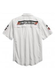 Harley Davidson Homme Performance Fast-Dry SYN3 Chemise Blanche 96157-16VM