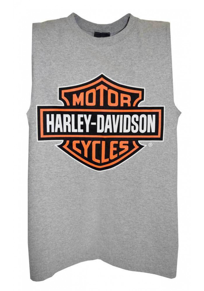 Harley Davidson Homme Bar & Shield Sable Tank Top Muscle Gris Tee Shirt 30296626