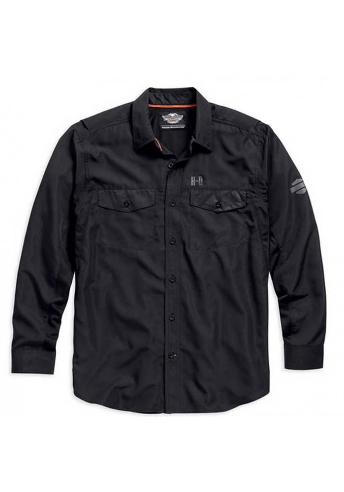 Harley Davidson Manches Longues Performance Button Front Chemise, Noir. 99018-15VM