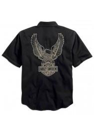 Harley Davidson Homme Genuine Classics Eagle Garage Chemise Manches courtes 99002-14VM