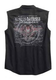 Harley Davidson Homme Sinister Skull Sans Manches Blowout, Noir 96151-16VM
