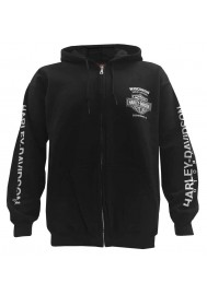 Harley Davidson Homme Text Willie G Skull  Zip , Noir