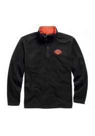 Sweat Harley Davidson Homme 1/4-Zip Manches Longues Logo Polaire  Chemise, Noir. 99001-15VM