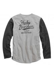 Harley Davidson Homme Black Label Core Vintage Henley 99044-16VM
