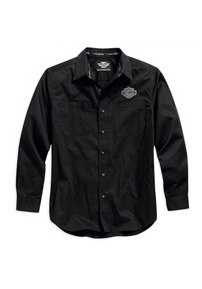 Harley Davidson Homme Logo Chemise Manches Longues, Noir. 99011-15VM