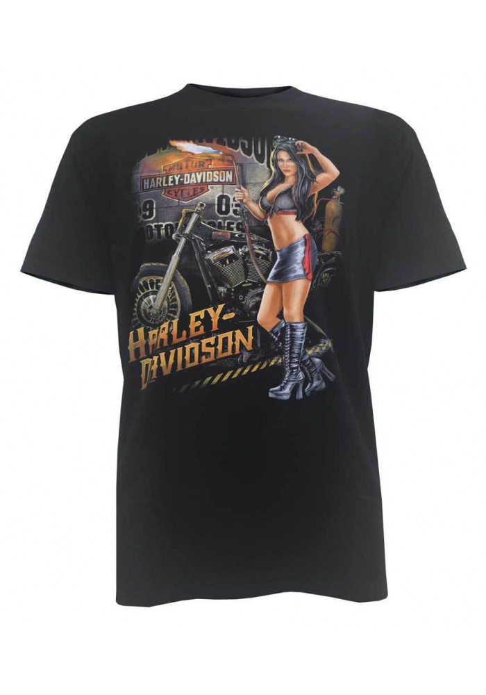 Harley Davidson Homme Midnight Devotion Pin-Up Tee Shirt Manches courtes 5503-HB5F