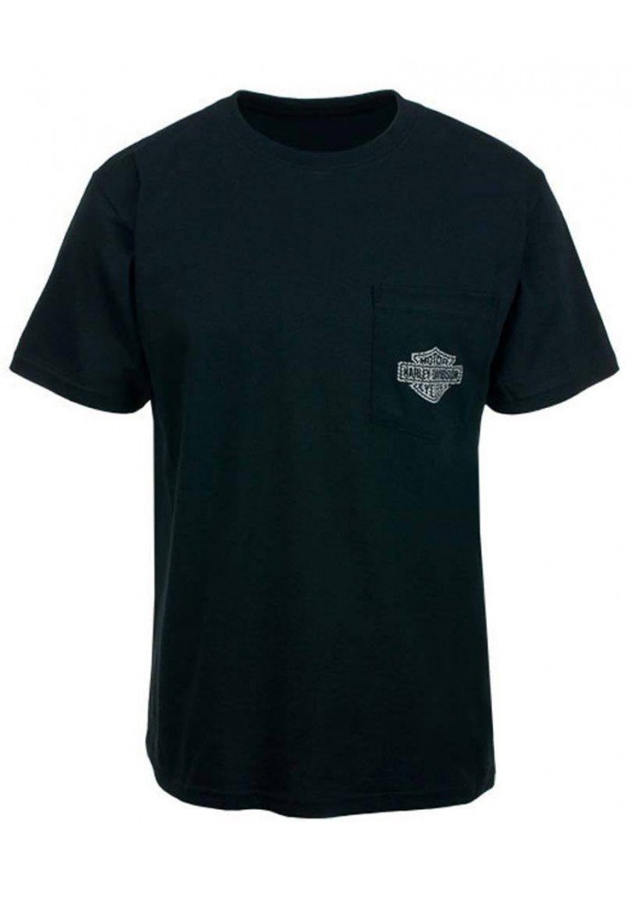Harley Davidson Homme Eagle Carbon Skull Tee Shirt HARLMT0188