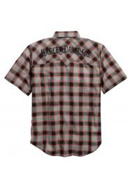 Harley Davidson Homme Cotton Oxford Plaid Chemise Manches Courtes 96415-17VM