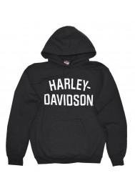 Harley Davidson Homme Heritage Pullover Sweatshirt à Capuche Noir  30296635