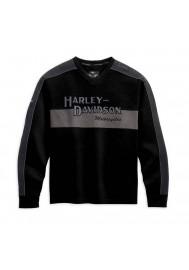 Harley Davidson Homme Prestige Manches Longues Noir & Gris 99127-10VM