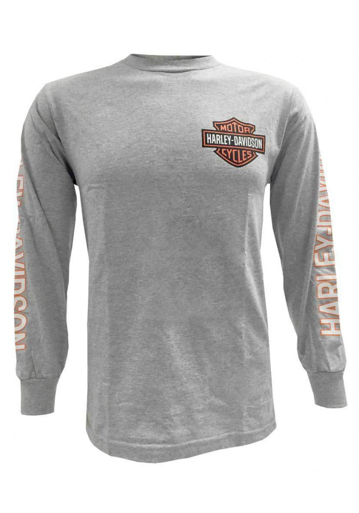 Harley Davidson Homme Chemise, Bar & Shield Manches Longues, Gris 30296614