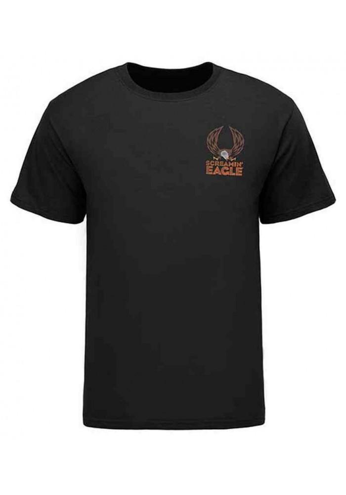 Harley Davidson Homme Eagle Scout Eagle Tee Shirt, Noir HARLMT0231