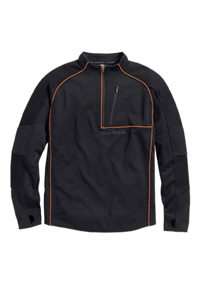 Harley Davidson Homme Athletic Rouge Pullover, Noir/Orange 96090-16VM