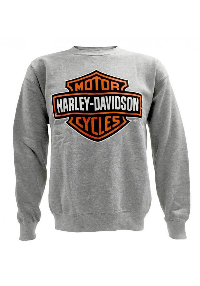 Harley Davidson Homme Bar & Shield Pullover Col Rond Sweatshirt, Gris 30296628